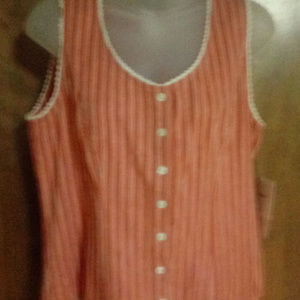 EMMA JAMES SLEEVLESS TOP LIZ CLAIBORNE CO. SIZE 10